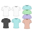Mens short sleeve t-shirt vector image vector image