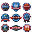 BEST SELLER retro vintage badges and labels Flat d vector image
