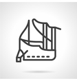 Abstract line icon for mooring vector image