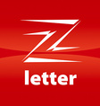 logo the letter Z in the form of arrows vector image