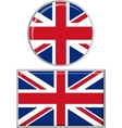 British round and square icon flag vector image vector image