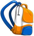 Close up school bag vector image