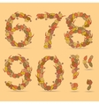67890 colorful font vector image