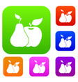 apple and pear set collection vector image