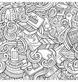 Cartoon doodles travel planning seamless pattern vector image