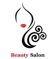 decorative beauty salon icon vector image