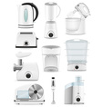 electrical appliances for the kitchen 01 vector image