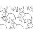 elephant contour pattern vector image