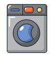 grey washing machine icon cartoon style vector image