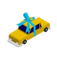 Isometric taxi car vector image