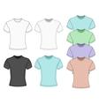 Mens short sleeve t-shirt vector image
