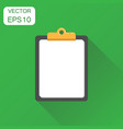 notepad icon business concept diary notebook vector image