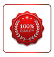 Seal award red icon medal vector image