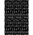Ancient text or greek font seamless pattern vector image vector image