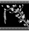 Vintage Monochrome Background with Birch Twigs vector image