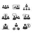 icon business office vector image