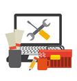 computer repair service vector image