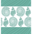seamless turquoise background with shells vector image vector image