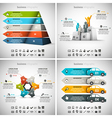 4 in 1 Infographic Bundle vector image