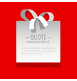 White sticker on a red background vector image