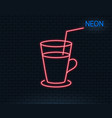 coffee or cocktail line icon fresh drink sign vector image