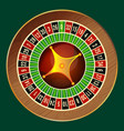colorful wheel of luck or fortune on green vector image