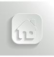Home icon - white app button vector image