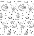 seamless pattern with cute retro robots vector image