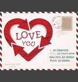 Valentines Day postcard card design vector image