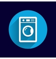 washing machine icon laundromat clothing vector image