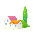icon tree and house vector image vector image