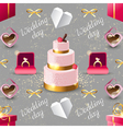 wedding seamless on grey background vector image vector image