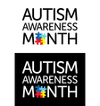 Autism Awareness Month vector image vector image