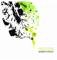 Abstract watercolor eco leaf background vector image