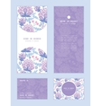 soft purple flowers vertical frame pattern vector image
