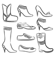 fashion women shoes vector image vector image