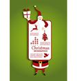 Christmas and Santa Infographic vector image