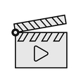 clapperboard with play icon vector image
