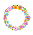decorative frame from flowers vector image