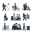 Delivery Person Freight Logistic Business Industry vector image