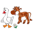 goose and calf vector image