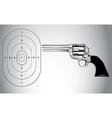 Gun and target vector image
