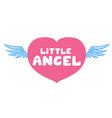 Little angel lettering vector image