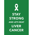liver cancer poster vector image