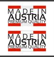 made in austria icon premium quality sticker vector image