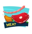 Meat products concept design vector image