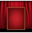 Red Curtain Background Blank Billboard vector image