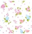 Seamless pattern of Syringa flowers vector image