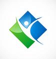 success people sport logo vector image