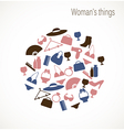 Womans things vector image